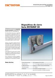 Dispositivos de cierre Serie DICTAMAT 50 - Dictator