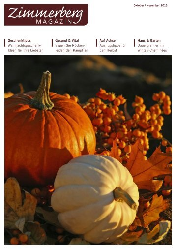 Ausgabe Oktober/November 2013 - Zimmerberg-Magazin