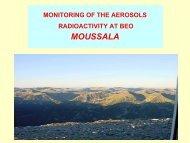 monitoring of the aerosols radioactivity on beo moussala