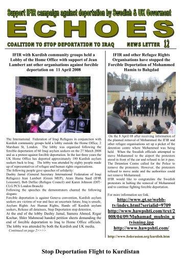 Stop Deportation Flight to Kurdistan