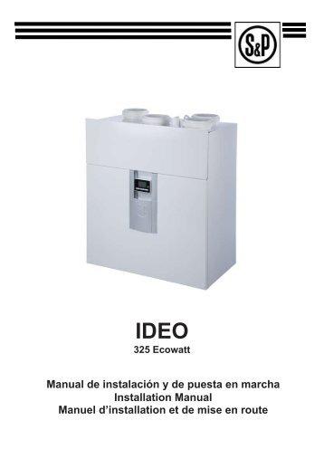 IDEO IDEO - Soler & Palau Sistemas de Ventilación, SLU