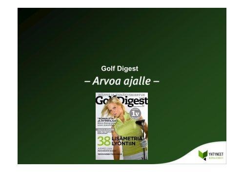 Golf Digest Lukijatutkimus 2008
