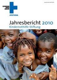 Jahresbericht 2010 - Kindernothilfe