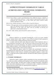 OVĚŘENÍ ÚČINNOSTI INFORMATIVNÍ TABULE AUTHENTICATION ...