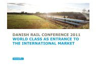 danish rail conference 2011 world class as entrance to the ...