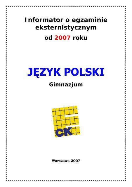 Jäzyk Polski Okrägowa Komisja Egzaminacyjna