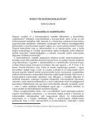 Szécsi Gábor: Nyelv és intencionalitás