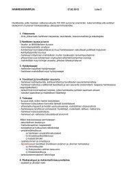 Hankeasiakirja liite 2 - Ulkoasiainministeriö