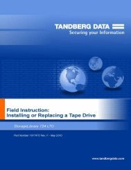 Installing a Tape Drive in a StorageLibrary T24 LTO ... - Tandberg Data