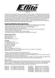 Six-Series BL 2000Kv Instructions - E-flite
