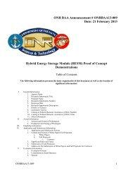 ONR BAA Announcement # ONRBAA13-009 Date - Office of Naval ...