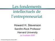 Entrepreneurship @ Harvard Business School