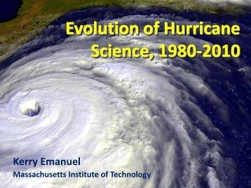 Evolution of Hurricane Science, 1980-2010