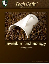 Invisible Tech - TCEA