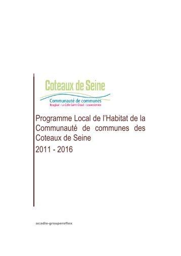 Programme Local de l'Habitat de la Communauté de communes des ...