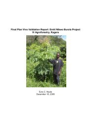 Final Plan Vivo Validation Report: Emiti Nibwo Burola Project Vi ...
