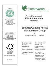 Ecotrust Canada Forest Management Group - Rainforest Alliance