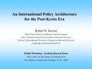 Can Global Climate Treaty Architecture Be Based on Sound Science ...