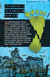 Household Hazardous Wastes - Environment and Natural Resources