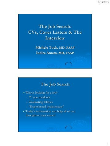The Job Search CVs, Cover Letters & The Interview - New Jersey ...