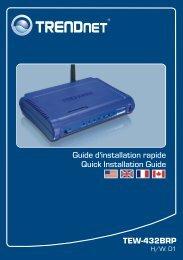 TEW-432BRP Guide d'installation rapide Quick ... - TRENDnet
