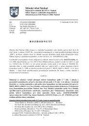 Rozpočet Deklaratorní rozhodnutí - Nový Hrádek