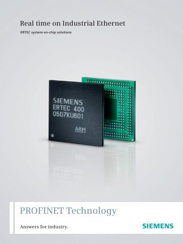 PROFINET Technology Real time on Industrial Ethernet - Siemens