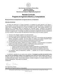 Revisión Curricular Programa de Ingeniería Eléctrica y Computadoras