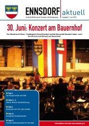 30. Juni: Konzert am Bauernhof - Gemeinde Ennsdorf