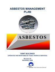 Asbestos Management Plan - Department of Public Works and ...