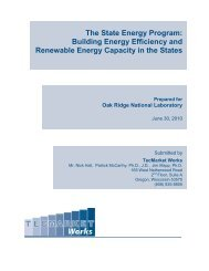 Building Energy Efficiency and Renewable Energy Capacity in the ...