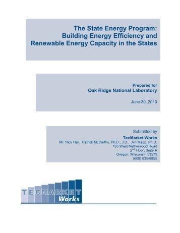 Building Energy Efficiency and Renewable Energy Capacity in the ...