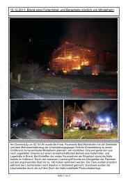 15.12.2011: Brand einer Futtermittel - Freiwillige Feuerwehr Bad ...
