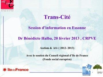 Trans-Cité - Session d'information en Essonne - crpve