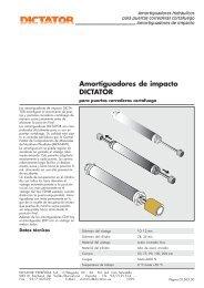 Amortiguadores de impacto DICTATOR