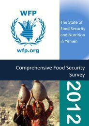 Yemen - Comprehensive Food Security Survey - WFP Remote ...