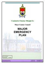 MAJOR EMERGENCY PLAN - Mayo County Council