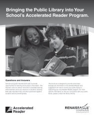 Bringing the Public Library into Your School's Accelerated Reader ...