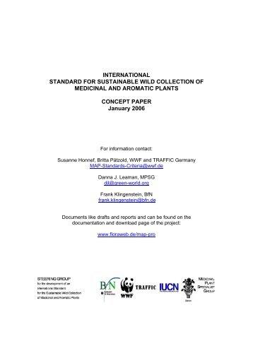 INTERNATIONAL STANDARD FOR SUSTAINABLE ... - FloraWeb