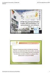 Calidad del producto software, modelos ISO relacionados y su ... - ATI