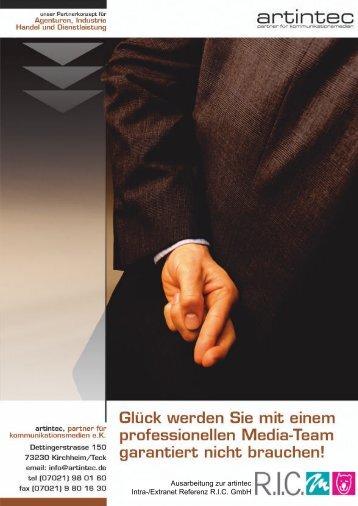 Ausarbeitung zur artintec Intra-/Extranet Referenz R.I.C. GmbH