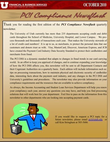 Quarterly Newsletter - Financial & Business Services - University of ...