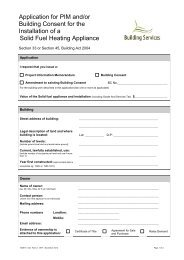 Application for PIM and/or Building Consent for the Installation of a ...