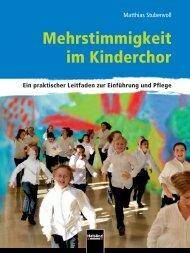 Mehrstimmigkeit im Kinderchor - Helbling Verlag