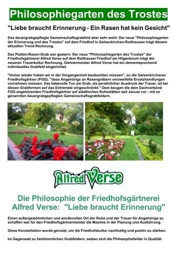 Gartenbau Alfred Verse aus alter Tradition! - Gelsenkirchen Marathon