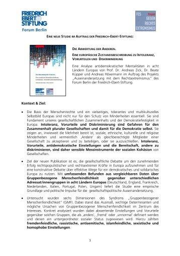 Wichtigste Ergebnisse im Überblick - Friedrich-Ebert-Stiftung ...