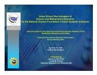 Urban School Key Indicators of Science and Mathematics Education ...