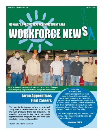 Laron Apprentices Find Careers - Mohave County