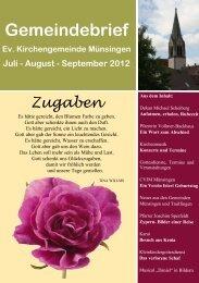 Juli 2012 - Evangelische Kirchengemeinde Münsingen