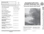 Kirchennachrichten Dezember / Januar - Kirchspiel Radeberger Land